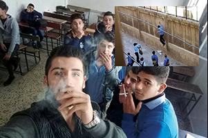التدخين عادة سيئة تغزو الطلاب في المدارس
