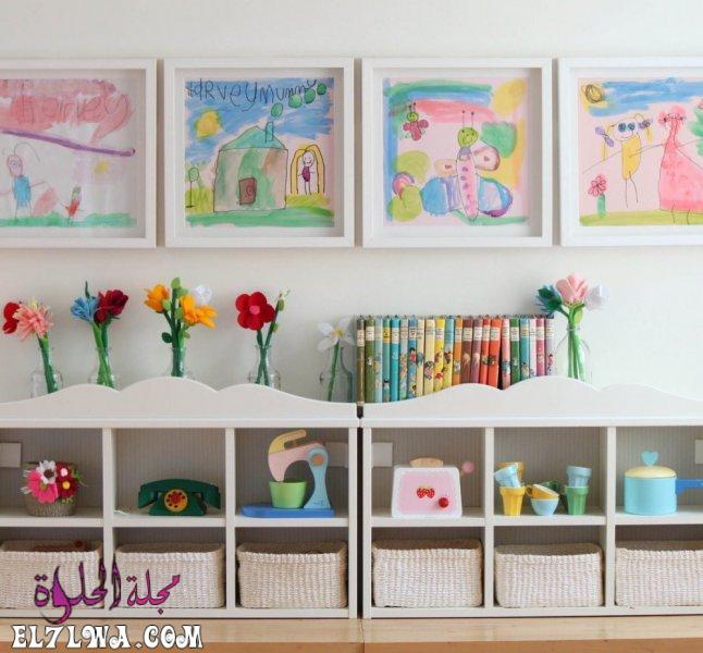ارفف تخزين - ديكورات غرف اطفال 2021 ديكور غرف اطفال