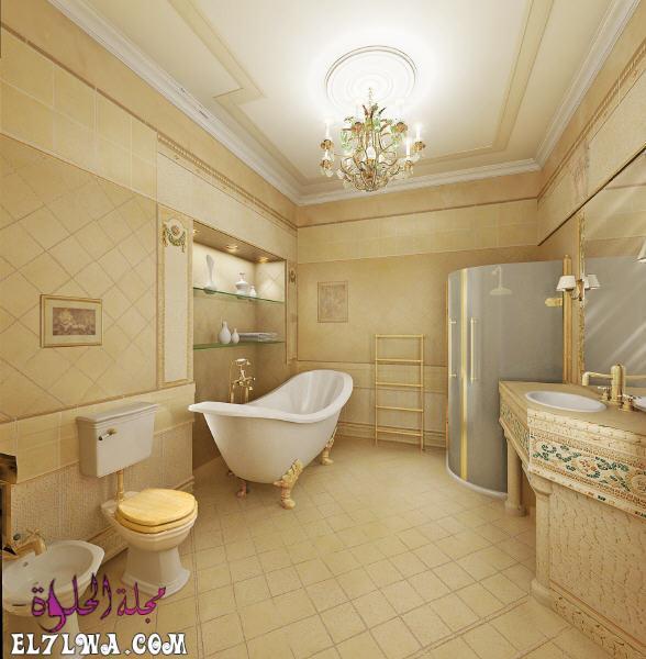 ديكور حمامات كلاسيك 2021