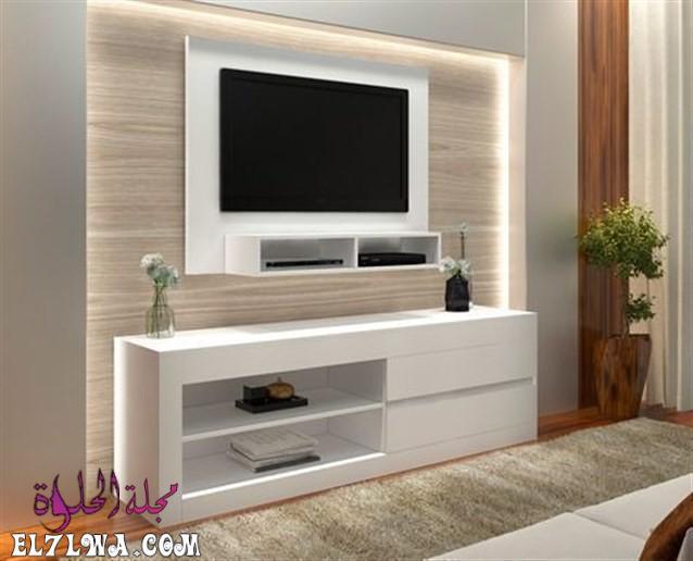 ديكور تلفزيون خشب - ديكور تلفزيون 2021 ديكور تلفزيون بسيط