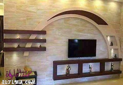 ديكور تلفزيون - ديكور تلفزيون 2021 ديكور تلفزيون بسيط