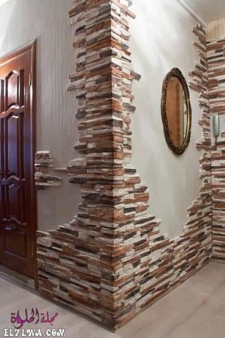 ديكور مدخل حجري - ديكورات مدخل البيت 2021 أفكار ديكور لمدخل البيت
