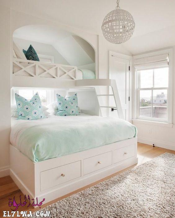 غرفة نوم بتمصميم قمة فى الهدوء والجمال يناسب الذوق الراقي 1 - ديكورات غرف نوم بنات 2021 صور ديكور غرف نوم للبنات