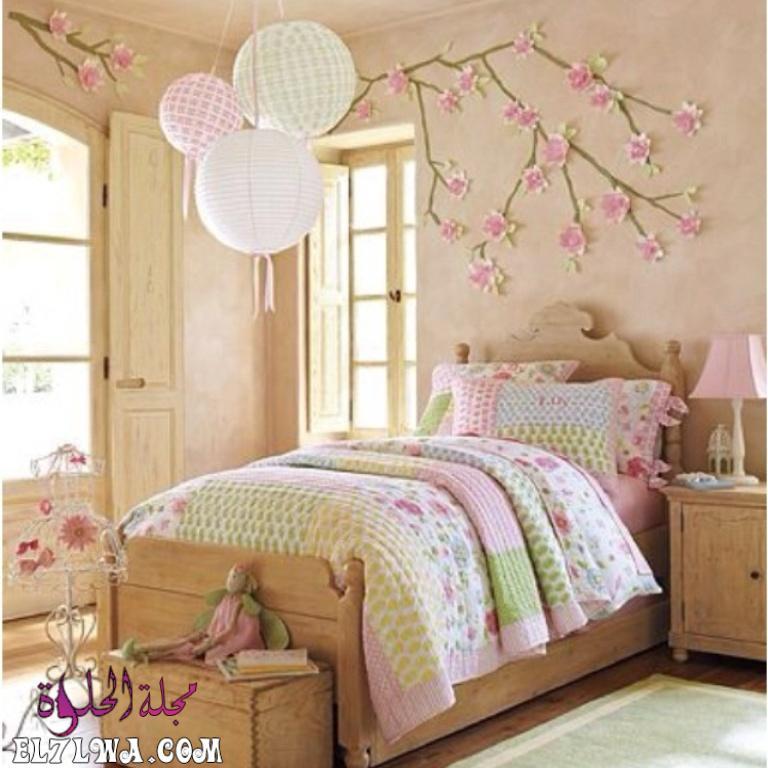غرفة نوم بتمصيم قمة فى الجمال 1 - ديكورات غرف نوم بنات 2021 صور ديكور غرف نوم للبنات