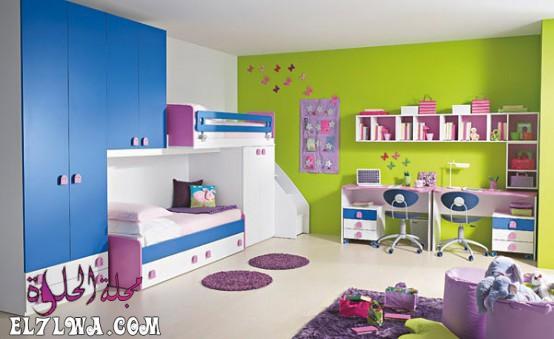 غرف اطفال بالوان زاهية - ديكورات غرف اطفال 2021 ديكور غرف اطفال