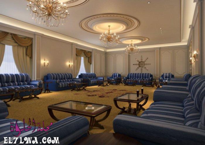 مجلس ازرق للرجال - ديكورات مجالس رجال 2021 صور ديكور مجالس رجال