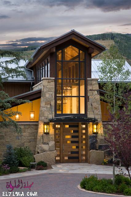 18 Inviting Rustic Entry Designs For A Pleasant Welcome 1 - ديكورات مدخل البيت 2021 أفكار ديكور لمدخل البيت