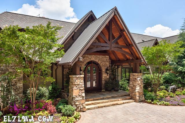18 Inviting Rustic Entry Designs For A Pleasant Welcome 12 - ديكورات مدخل البيت 2021 أفكار ديكور لمدخل البيت