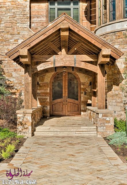 18 Inviting Rustic Entry Designs For A Pleasant Welcome 14 - ديكورات مدخل البيت 2021 أفكار ديكور لمدخل البيت