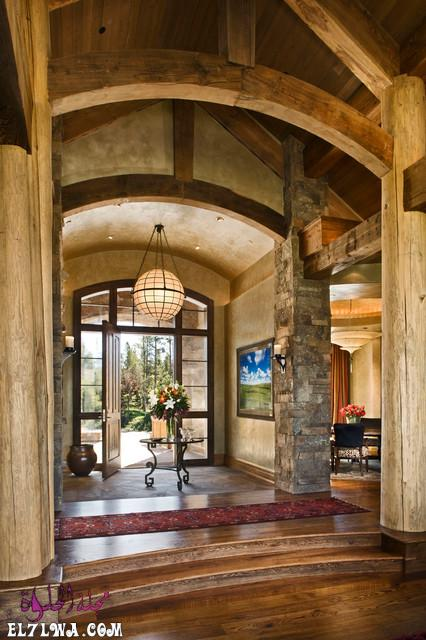 18 Inviting Rustic Entry Designs For A Pleasant Welcome 15 - ديكورات مدخل البيت 2021 أفكار ديكور لمدخل البيت