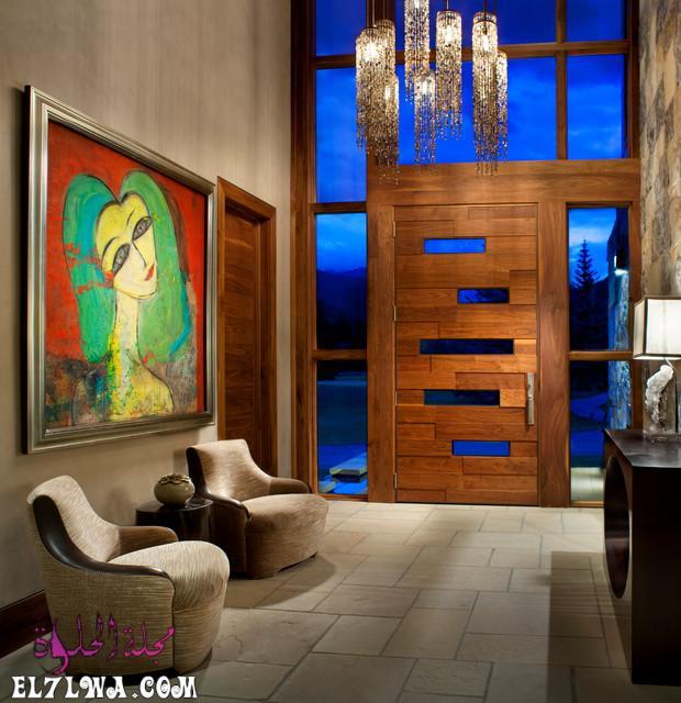 18 Inviting Rustic Entry Designs For A Pleasant Welcome 16 - ديكورات مدخل البيت 2021 أفكار ديكور لمدخل البيت