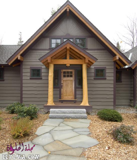 18 Inviting Rustic Entry Designs For A Pleasant Welcome 17 - ديكورات مدخل البيت 2021 أفكار ديكور لمدخل البيت