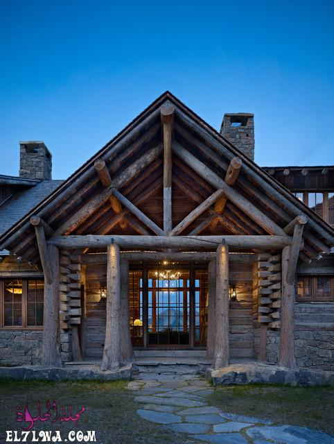 18 Inviting Rustic Entry Designs For A Pleasant Welcome 18 - ديكورات مدخل البيت 2021 أفكار ديكور لمدخل البيت
