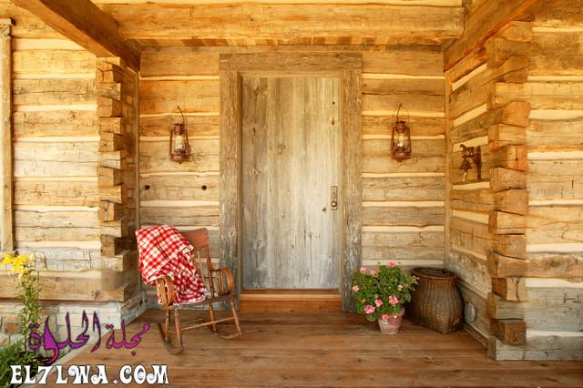 18 Inviting Rustic Entry Designs For A Pleasant Welcome 2 - ديكورات مدخل البيت 2021 أفكار ديكور لمدخل البيت