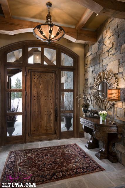 18 Inviting Rustic Entry Designs For A Pleasant Welcome 3 - ديكورات مدخل البيت 2021 أفكار ديكور لمدخل البيت