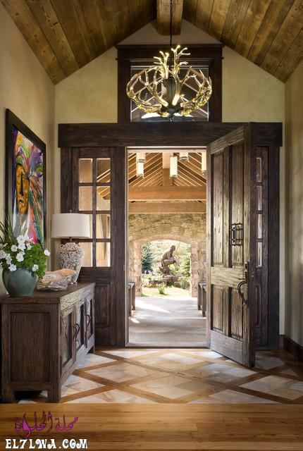 18 Inviting Rustic Entry Designs For A Pleasant Welcome 4 - ديكورات مدخل البيت 2021 أفكار ديكور لمدخل البيت