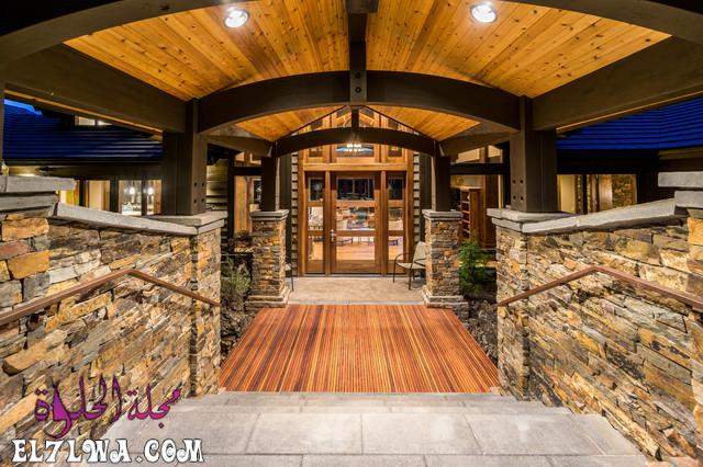 18 Inviting Rustic Entry Designs For A Pleasant Welcome 5 - ديكورات مدخل البيت 2021 أفكار ديكور لمدخل البيت