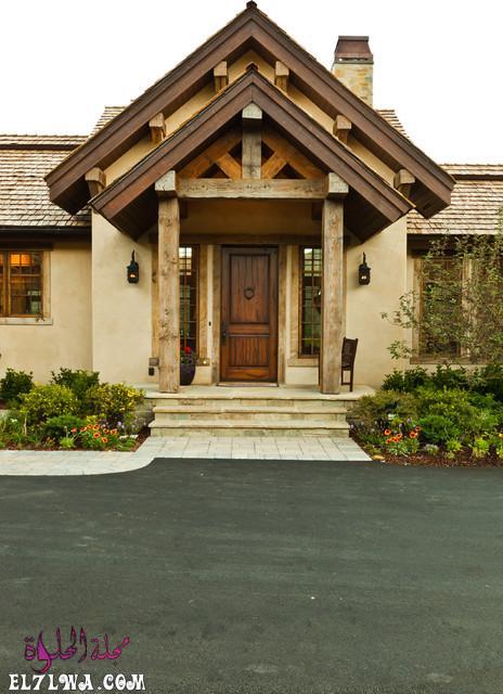 18 Inviting Rustic Entry Designs For A Pleasant Welcome 8 - ديكورات مدخل البيت 2021 أفكار ديكور لمدخل البيت