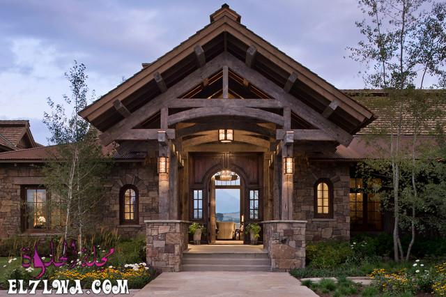 18 Inviting Rustic Entry Designs For A Pleasant Welcome 9 - ديكورات مدخل البيت 2021 أفكار ديكور لمدخل البيت