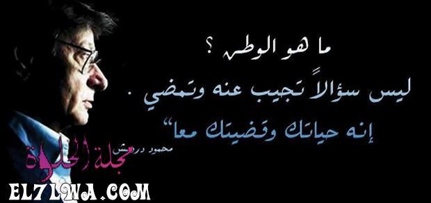 محمود درويش ماهو الوطن