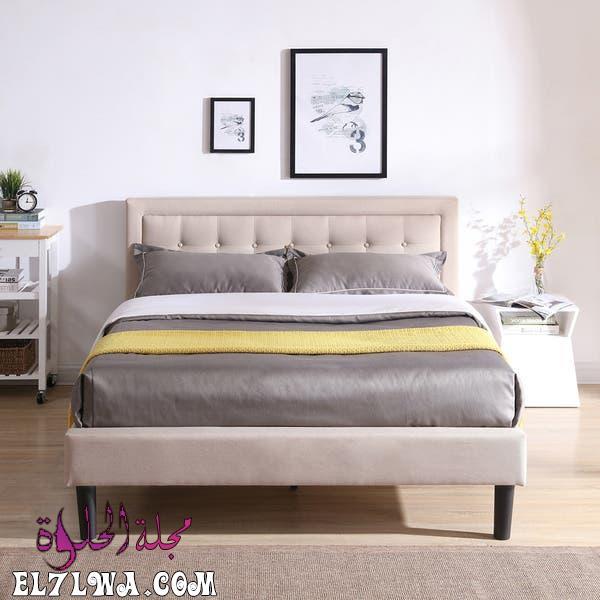 Classic Brands Mornington Upholstered Platform Bed Metal Frame with Wood Slat Support a742da8d 4556 4222 a28d dbc01ea4785d 600 - أثاث غرف نوم 2021 صور أثاث غرف نوم