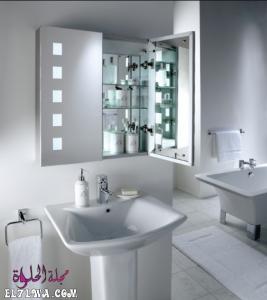 صور دواليب حمامات زجاج 2021 م