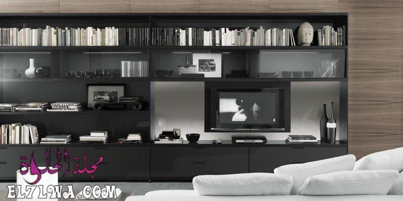 مكاتب تلفزيون مودرن شيك فخمة 3 800x400 1 - ديكور تلفزيون 2021 ديكور تلفزيون بسيط