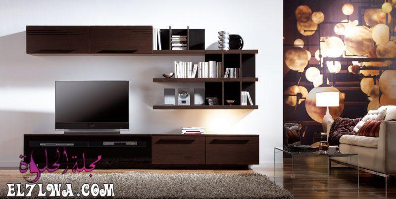 مكتبات مودرن 3 800x402 1 - ديكور تلفزيون 2021 ديكور تلفزيون بسيط