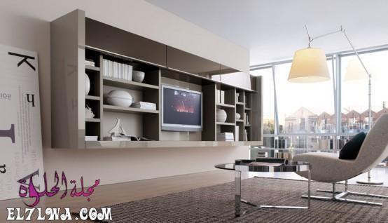 مكتبة تليفزيون 2 - ديكور تلفزيون 2021 ديكور تلفزيون بسيط
