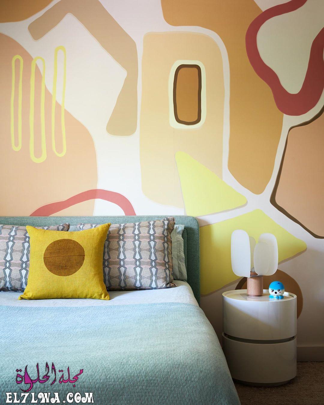 دهانات حوائط غرف نوم باللون الأصفر