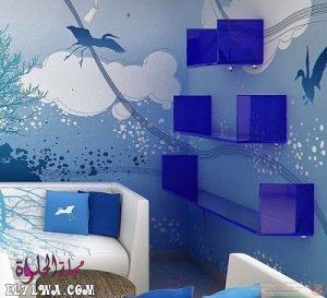 blue wall paint 8 300x273 1 - الوان دهانات ريسبشن 2021 الوان دهانات ريسبشن مودرن