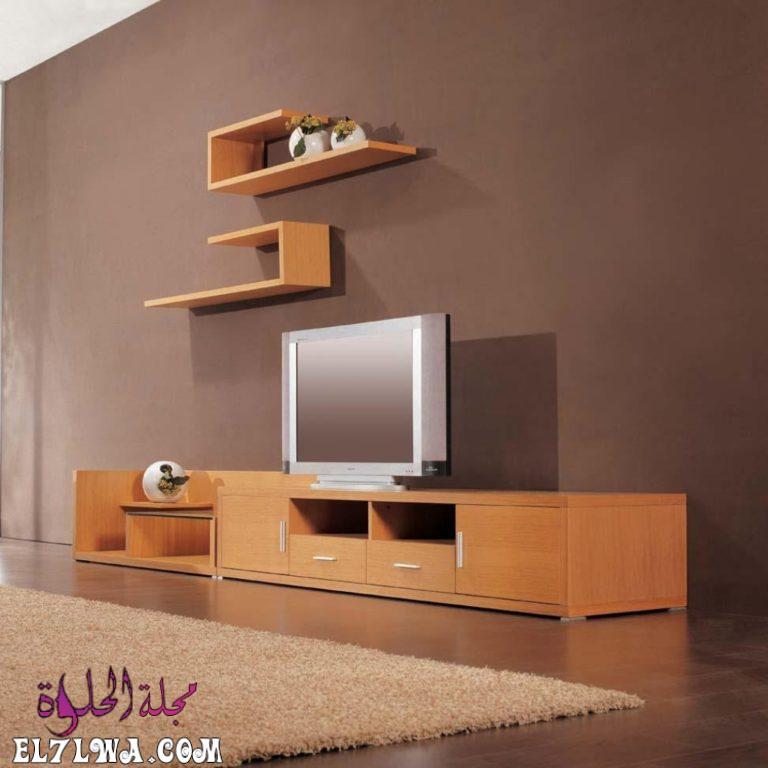 ديكور تلفزيون خشب