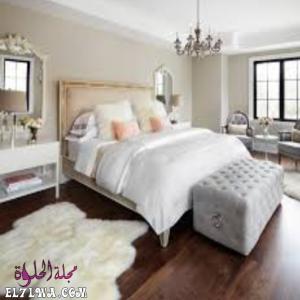 ألوان دهانات غرف النوم لشقق العرائس 2021