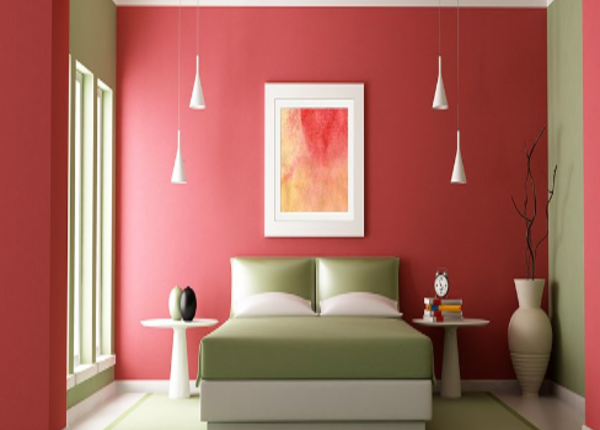 ألوان حوائط غرف النوم 2021