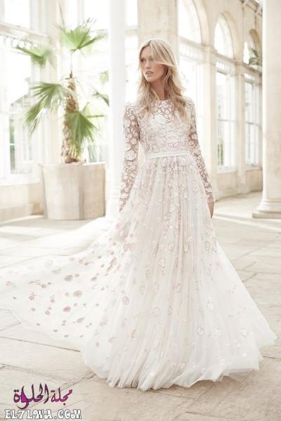 فساتين زفاف دانتيل رومانسية 2021