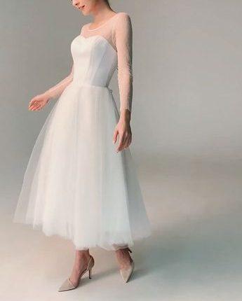 فستان زفاف من التل السادة فساتين زفاف 2021