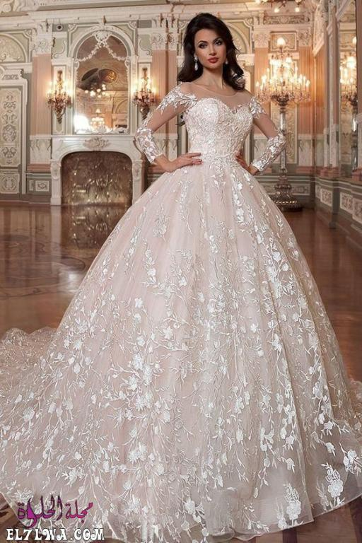 فساتين زفاف فخمة 2021 بأكمام طويلة
