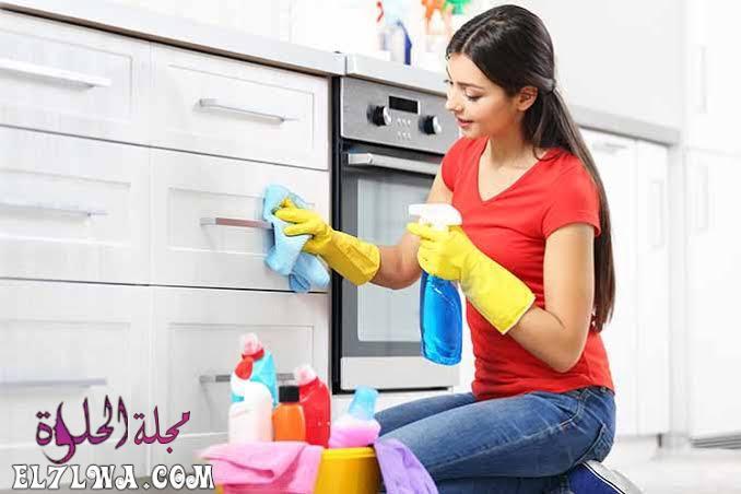 افكار لتنظيف المطابخ الالوميتال والخشب بسرعة وسهولة